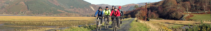 Cycling along the Mawddach Trail between Dolgellau and Barmouth