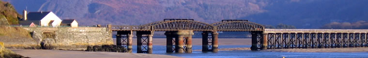Barmouth bridge at the mouth of the Mawddach Estuary
