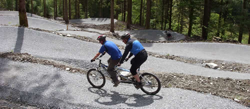 Tandem mountain biking at Coed y Brenin
